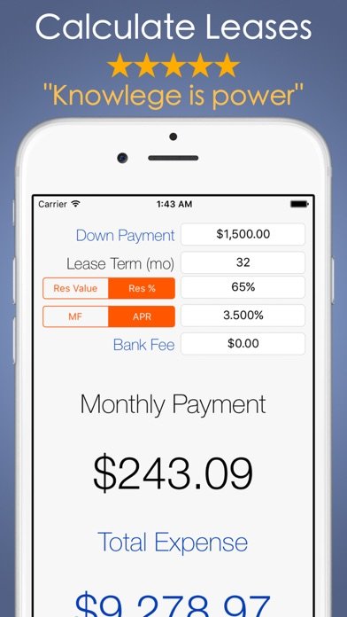Car Payment Calculator  Auto Lease And Loan Calc On The App Store