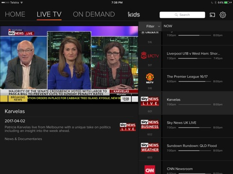 Foxtel Now screenshot 3
