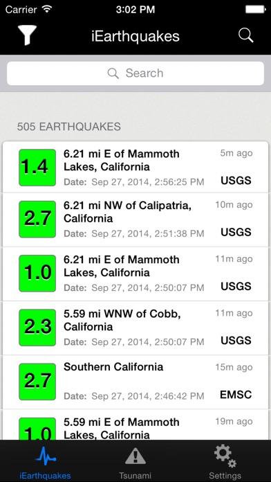 iEarthquakesScreenshot of 1