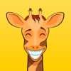 Cute Giraffe Emoji Animal Stickers for iMessage Wiki
