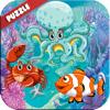 Sea animas puzzle vocabulary and alphabet ABC Wiki