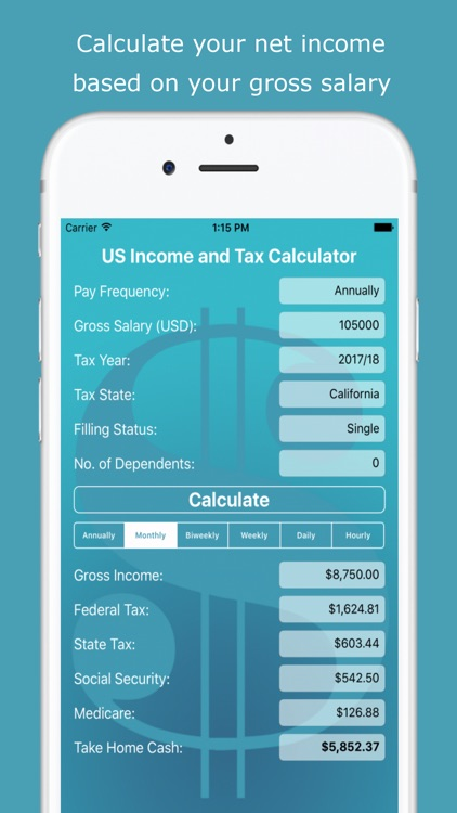 Usa Income Tax Calculator By Sergey Klimusha
