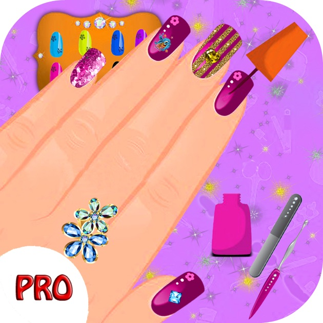 Angel nail salon nail art games on the app store for A list nail salon game