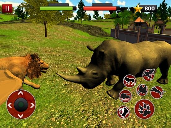 Летающий лев Симулятор: Злой дикий бой животных для iPad