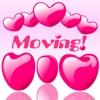 Many Moving Heart Shapes