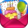 生日快樂牌和有趣的邀請
