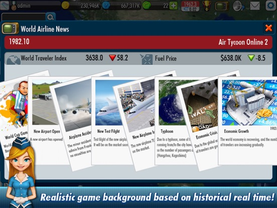 Screenshot #3 for AirTycoon Online 2.
