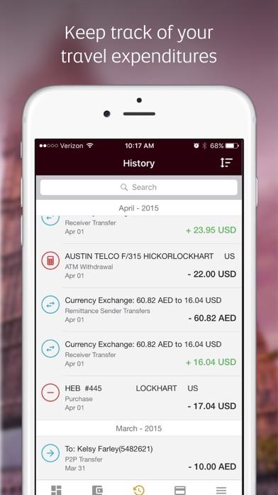 Etihad Guest walletplus™ app screenshot four