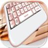 Teclado Ouro Rosa – Mudar Temas Brilhantes e Emoji