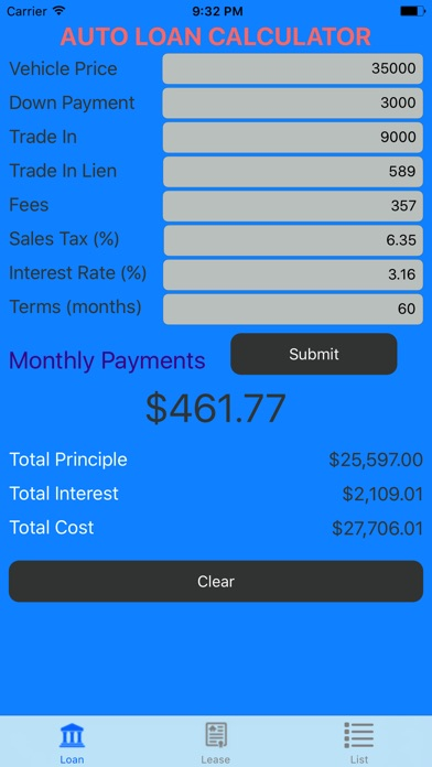 Car Loan Calculator  Auto Loan  Lease Calculator On The App Store