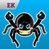 Emoji Kingdom 16 Spinne Halloween Emoticon Animation Unterstützung  iOS 8