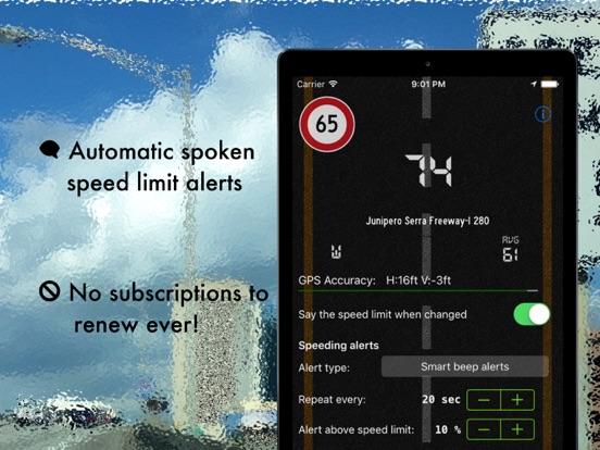 Live speed limit alerts Screenshots