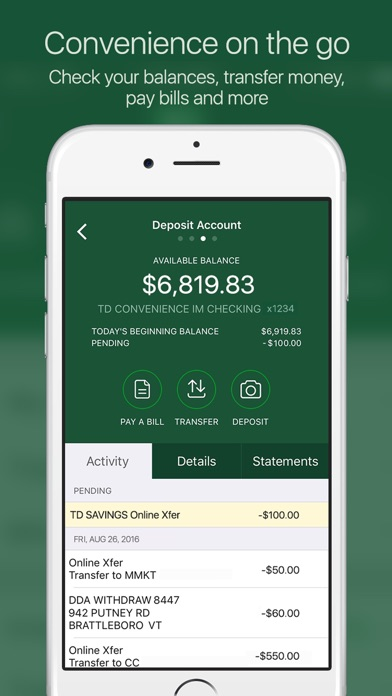 Td Bank Us App Report On Mobile Action