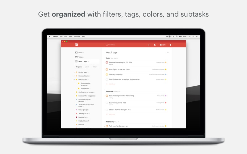 Todoist To Do List  Task List On The Mac App Store