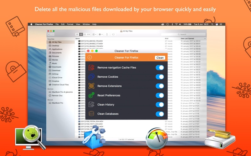 how to clean firefox on cleaner