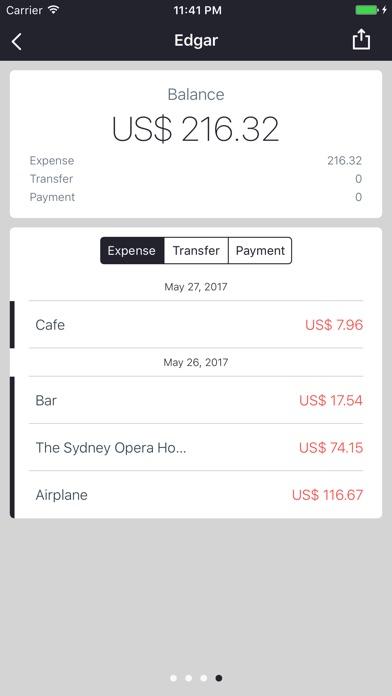 SPEND - Split bills Screenshot on iOS
