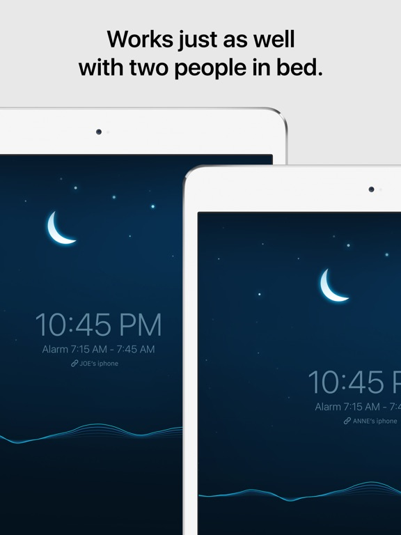 Sleep Cycle alarm clock iPad
