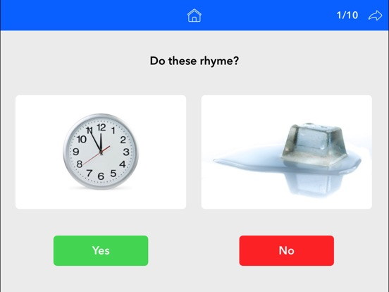 Screenshot #2 for Rhyming Words by Teach Speech Apps