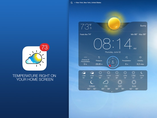 Screenshot #1 for Weather Live - Weather Forecast, Radar and Alerts