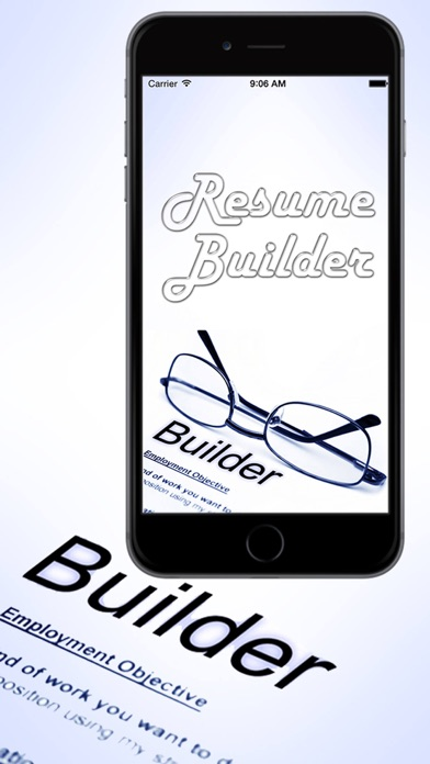 iphone screenshot 1 - Smart Resume Builder