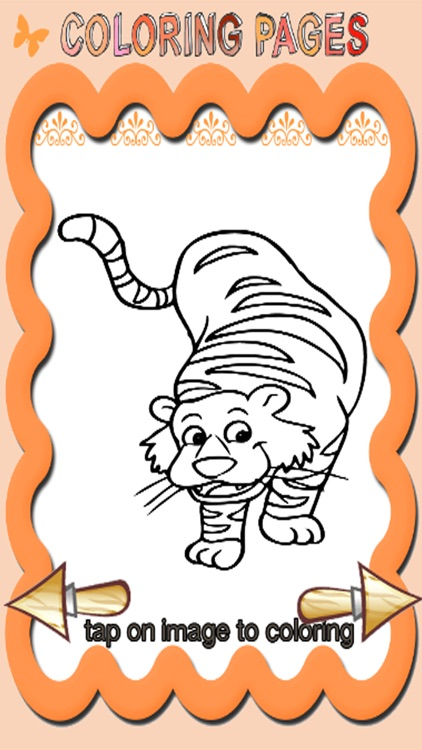 My Tiger Animal Coloring Pages Games Education