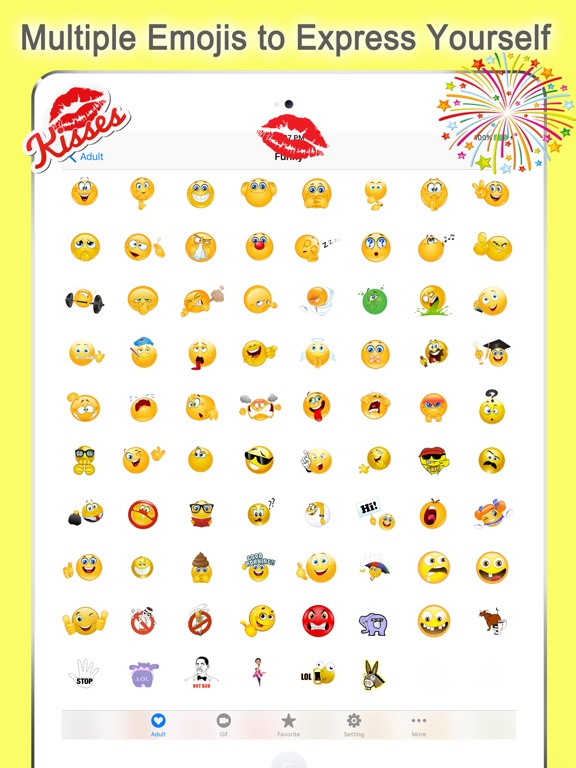Screenshots of Emoji Keyboard Twitch for iPad