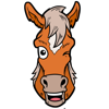 Rik Monster - My Horse Emoji  Cute & Fun Horse Stickers  artwork