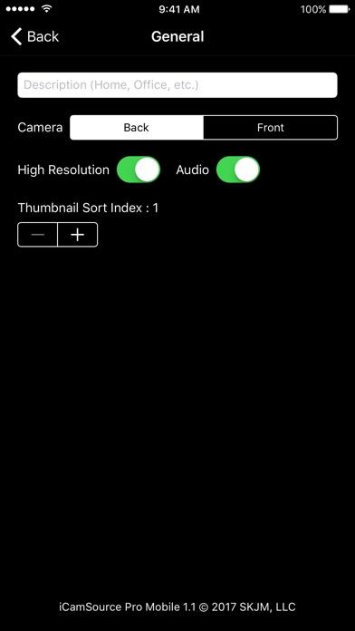 iCamSource Pro Mobile screenshot1