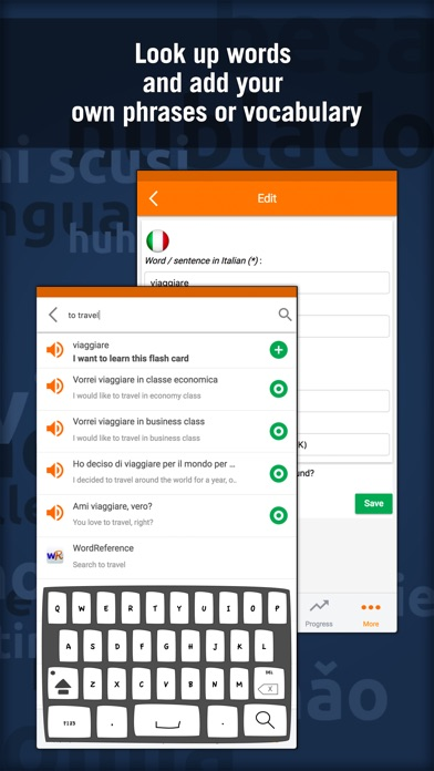 Learn Italian: MosaLingua Screenshots