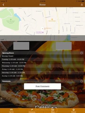Peel Wood Fired Pizza screenshot 2