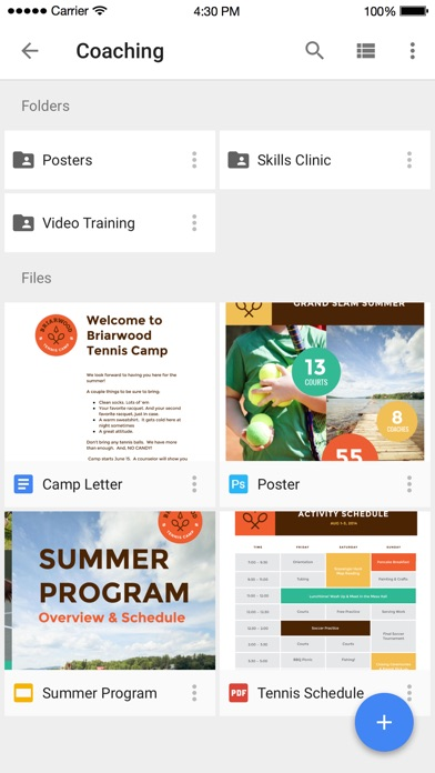 Screenshot 0 for Google Drive's iPhone app'