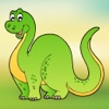 Dinosaur scratch & color game for kids & toddlers