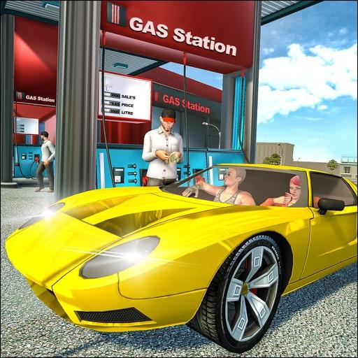 Gas Station Vehicle Parker 3D