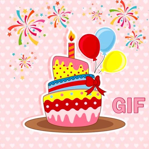 Animated Birthday Cake GIF Stickers
