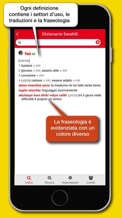 Screenshot of Dizionario Swahili Hoepli3