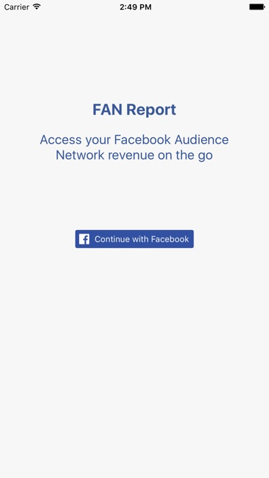 Screenshot von FAN Report - Revenue for Facebook Audience Network1
