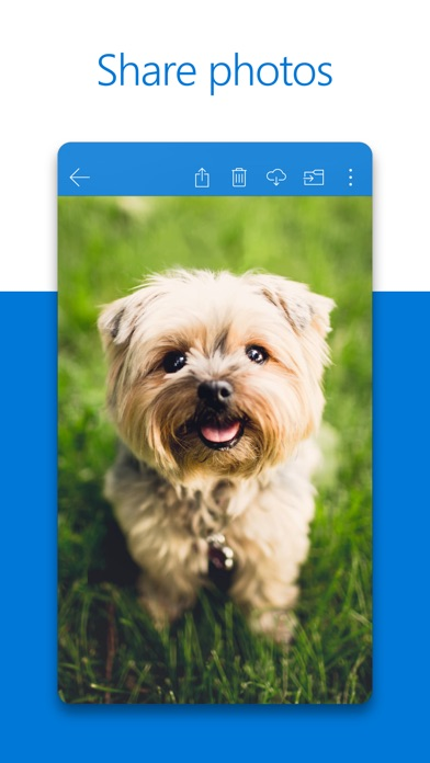 Screenshot 1 for OneDrive's iPhone app'