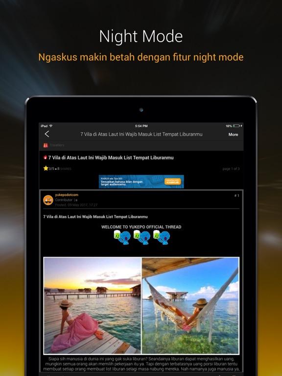 KASKUS Forum iPad