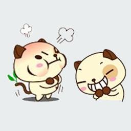Pugs Emotion Stickers
