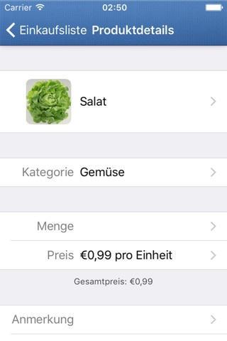 ShoppingList screenshot 2