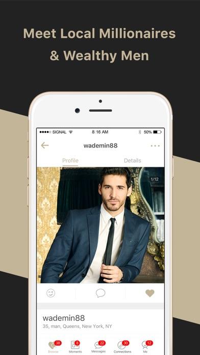 wealthy dating app
