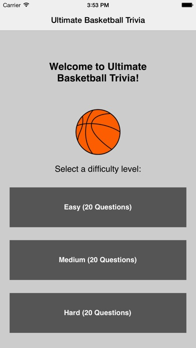 Ultimate Basketball Trivia Screenshot
