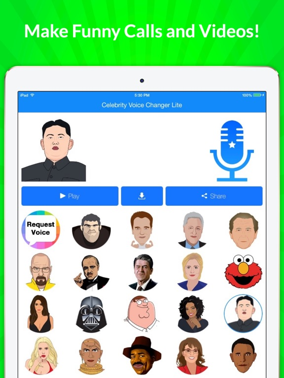 Screenshots of Celebrity Voice Changer - Funny Voice FX Soundboard Free for iPad