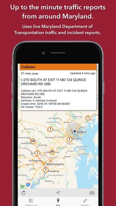 Maryland Roads Traffic Screenshot