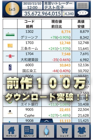 iトレ2 - バーチャル株取引ゲーム screenshot 3