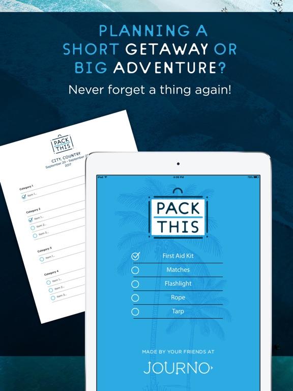 Упаковочный лист для путешеств Скриншоты7