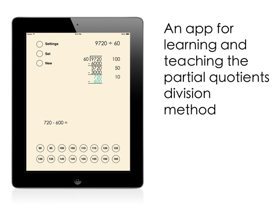 Partial Quotients Division Screenshots