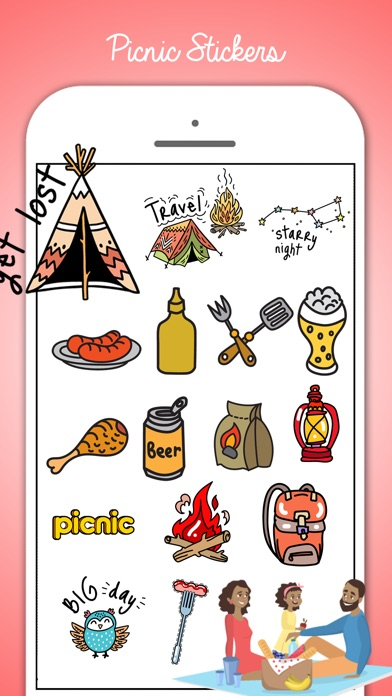 Picnic & Fun Loving Stickers screenshot 4