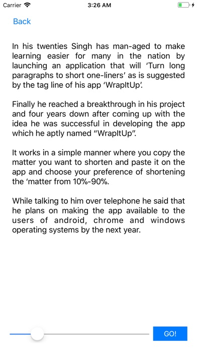 wrapitup text summarizer acirc cent on the app store iphone screenshot 4