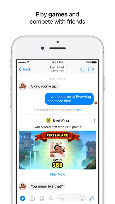 Screenshot of Messenger App